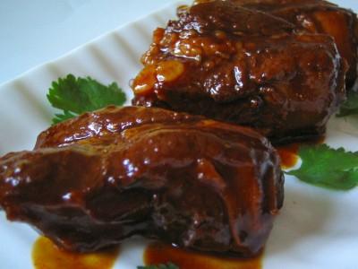 Braised pork roast bone in recipes